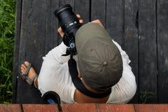 Fotógrafo de la perspectiva aérea Imagenes de archivo
