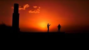 Fotógrafo de la puesta del sol en Van Fortress Fotos de archivo libres de regalías