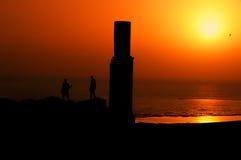 Fotógrafo de la puesta del sol en Van Fortress Imagen de archivo libre de regalías