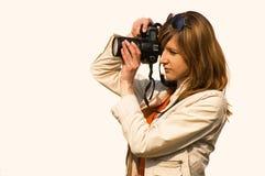 Fotógrafo de las mujeres Foto de archivo