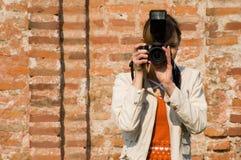 Fotógrafo de las mujeres Fotos de archivo