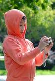 fotógrafo de los niños Imágenes de archivo libres de regalías