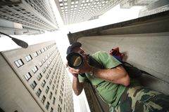 Fotógrafo de New York City Imagen de archivo