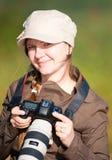 Fotógrafo de sexo femenino Foto de archivo libre de regalías