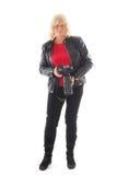 Fotógrafo de sexo femenino mayor Fotos de archivo libres de regalías