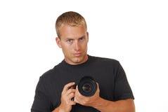 Fotógrafo de sexo masculino Fotografía de archivo libre de regalías