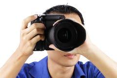 Fotógrafo de sexo masculino Imagenes de archivo