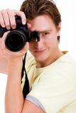 Fotógrafo de sexo masculino Imagen de archivo