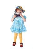 Fotógrafo del bebé de la belleza Foto de archivo