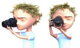 Fotógrafo del cabrito Imagenes de archivo
