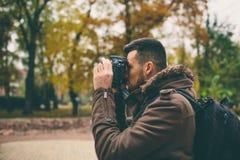 Fotógrafo del hombre Foto de archivo libre de regalías