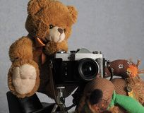 Fotógrafo del juguete imagen de archivo