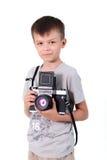 Fotógrafo del muchacho de la belleza Fotos de archivo