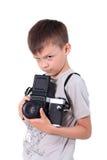 Fotógrafo del muchacho de la belleza Imagen de archivo