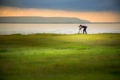 Fotógrafo del paisaje imágenes de archivo libres de regalías
