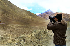 Fotógrafo del paisaje Imagenes de archivo