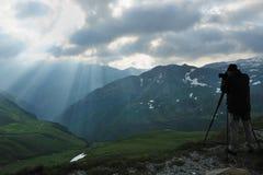 Fotógrafo del paisaje Imagen de archivo