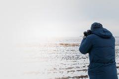 Fotógrafo del paisaje Fotografía de archivo