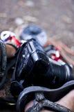 Fotógrafo del senderismo Fotografía de archivo libre de regalías