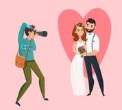 Fotógrafo Design Concept de la boda Imágenes de archivo libres de regalías