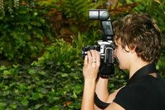 Fotógrafo do casamento Imagens de Stock