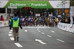 Fotógrafo do ciclismo Imagens de Stock