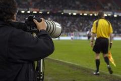 Fotógrafo do esporte foto de stock royalty free