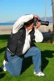 Fotógrafo do homem fotos de stock