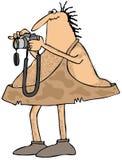 Fotógrafo do homem das cavernas ilustração do vetor