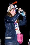 Fotógrafo do suporte do futebol - WC 2010 de FIFA fotografia de stock royalty free