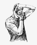 Fotógrafo do vetor ilustração royalty free