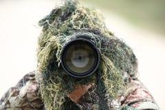 Fotógrafo dos animais selvagens Imagem de Stock
