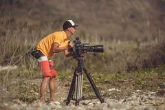 fotógrafo dos animais selvagens ao ar livre Fotografia de Stock Royalty Free