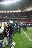 Fotógrafo dos desportos profissionais Foto de Stock