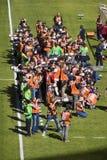 Fotógrafo dos esportes prontos para a ação Imagem de Stock