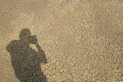 Fotógrafo e sua sombra Fotografia de Stock Royalty Free