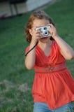Fotógrafo en el entrenamiento Imágenes de archivo libres de regalías