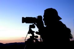 Fotógrafo en el trabajo Imagenes de archivo