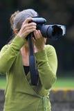 Fotógrafo en el trabajo Foto de archivo