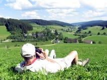 Fotógrafo en la acción Imagenes de archivo