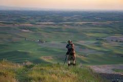 Fotógrafo en la mota de Steptoe Fotografía de archivo libre de regalías