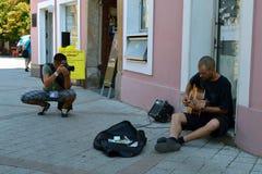 Fotógrafo en Novi Sad Foto de archivo libre de regalías