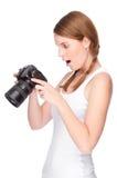 Fotógrafo fêmea imagens de stock royalty free