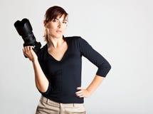 Fotógrafo fêmea imagem de stock royalty free