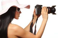 Fotógrafo glamoroso Imagens de Stock Royalty Free