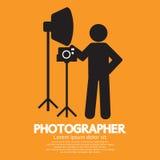 Fotógrafo Graphic Symbol Fotos de archivo