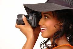 Fotógrafo hermoso Fotos de archivo