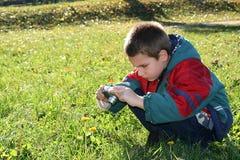 Fotógrafo joven Imagen de archivo