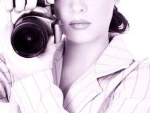 Fotógrafo joven hermoso Fotografía de archivo libre de regalías