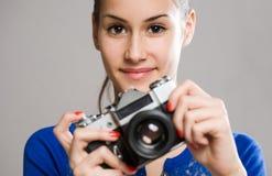 Fotógrafo joven lindo Imagenes de archivo